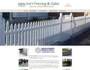 dynamic websites review  joes fencing and gates