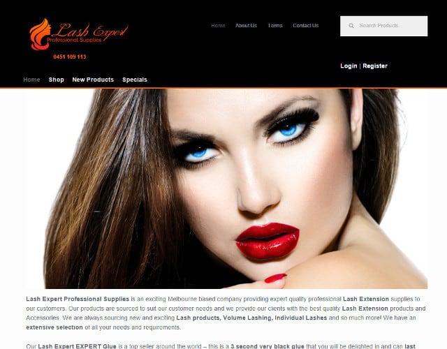 web design lash expert professional supplies