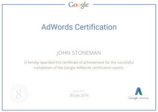 We Continue to be Google AdWords Certified