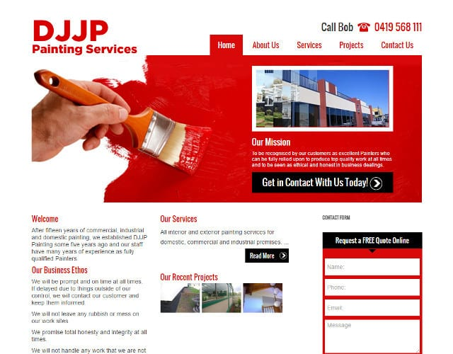 DJJP Painting Services web design