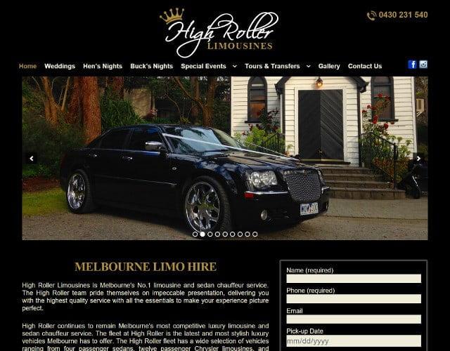 website design for high rollet limousines