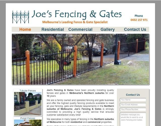 Joe's Fencing & Gates