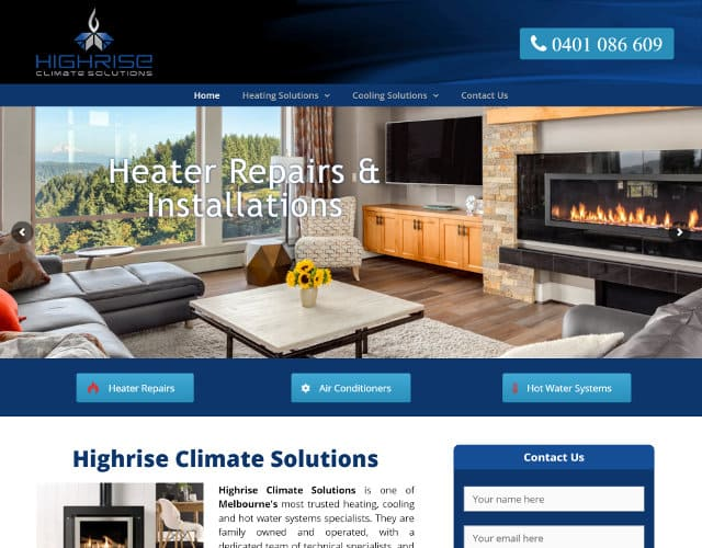 web design hr climate solutions