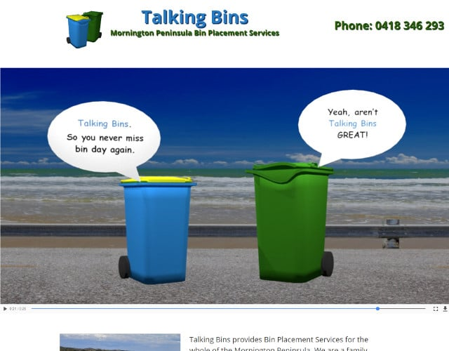 web design for bin placement service