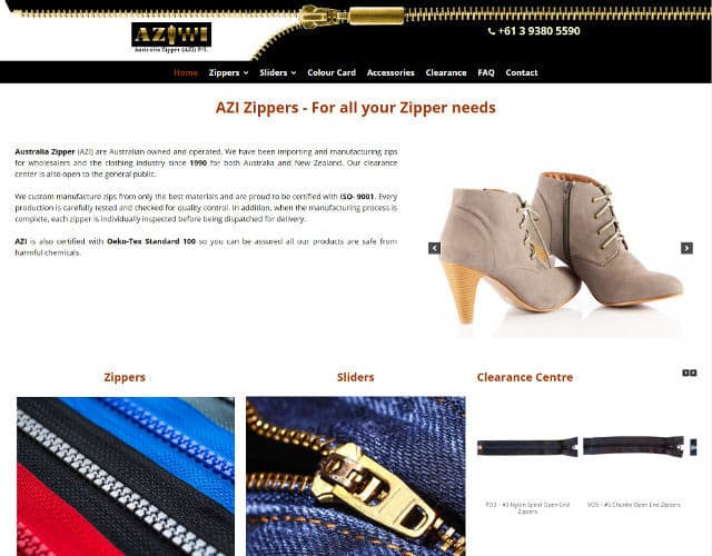 web design azi zippers