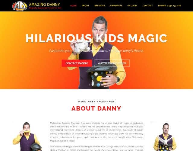 web design amazing dannny
