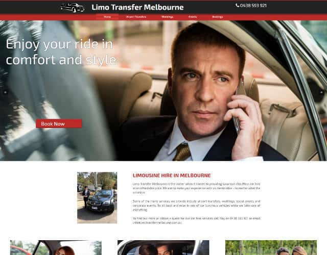 limo transfer melbourne web design