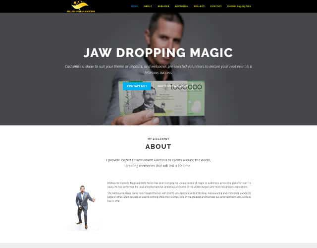 million dollar magician web design