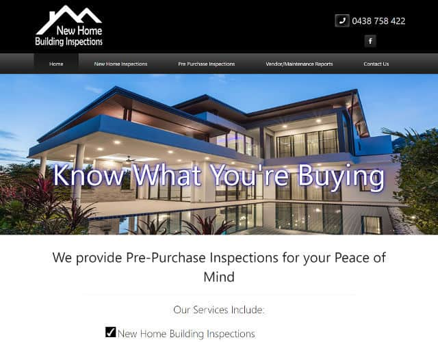 web design new home building inspections