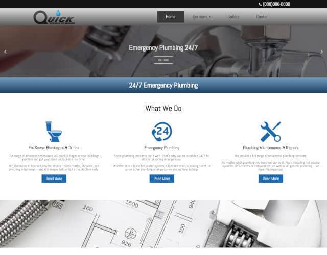 web design quick service plumbing