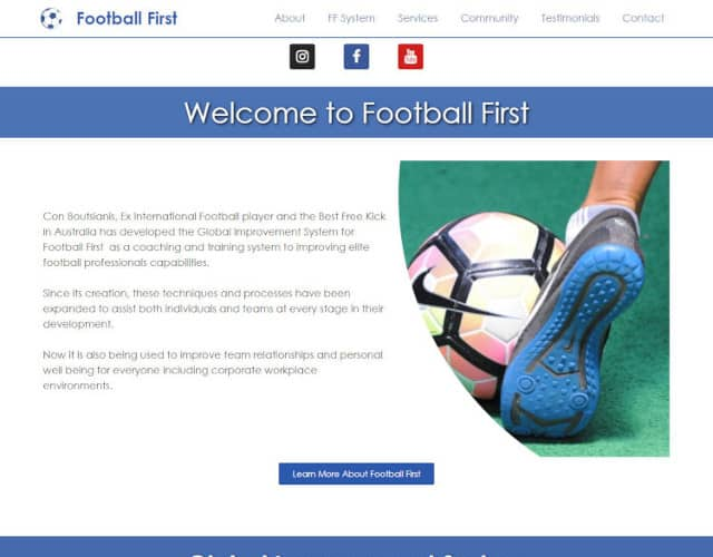web design football first