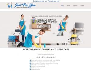 web design melbourne just for you cleaning