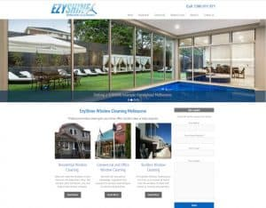 web design ezyshine window cleaning