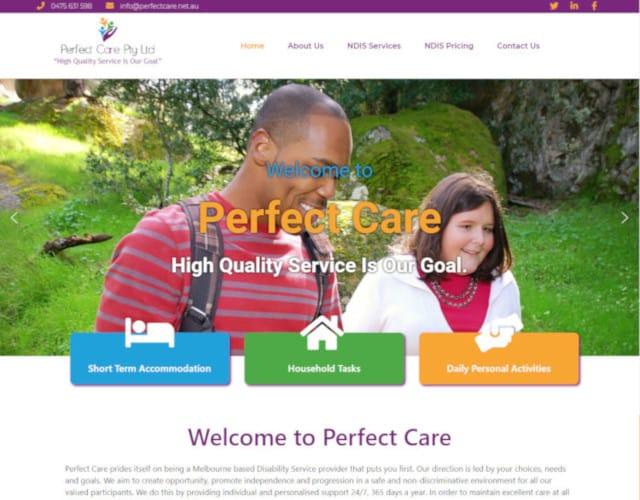 web design perfect care