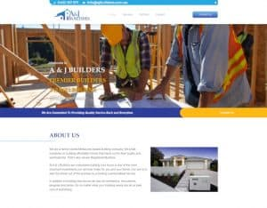 dynamic websites reviews a and j builders website