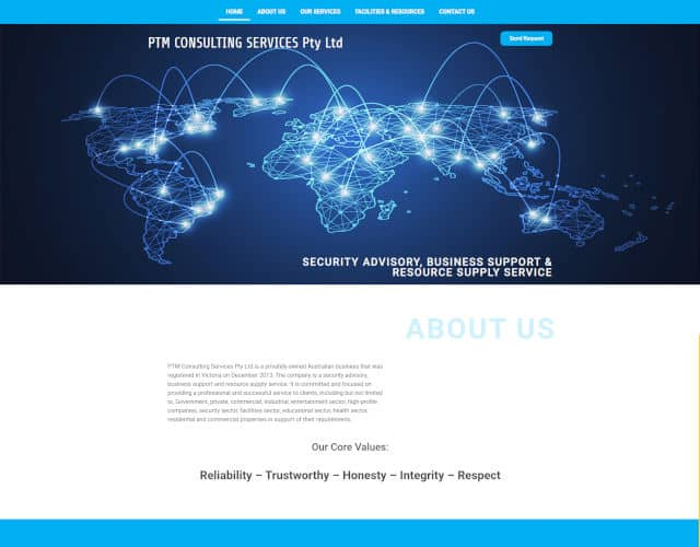 small business web design ptm consulting services